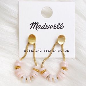 NWT Madewell Mother of Pearl Beaded Earrings